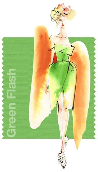 зелен вспышка